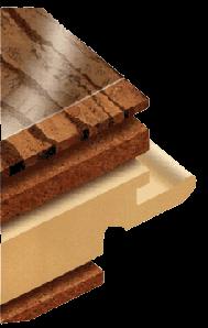 Пробковое напольное покрытие структура